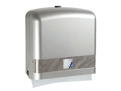 多功能紙巾架-銀   Interfold hand towel dispenser